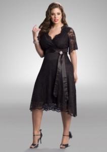 vestidos de fiesta para gorditas negro 2013