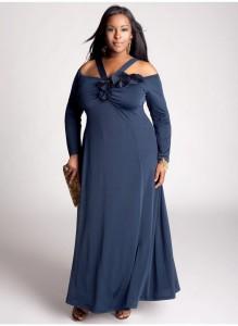 vestidos de fiesta para gorditas color azul
