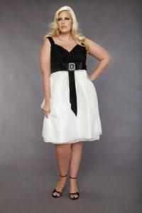 vestidos de fiesta hasta la rodilla para gorditas (1)