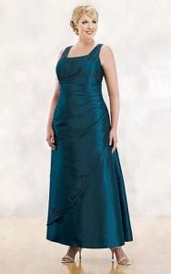 vestidos de fiesta para gorditas azul turquesa (4)