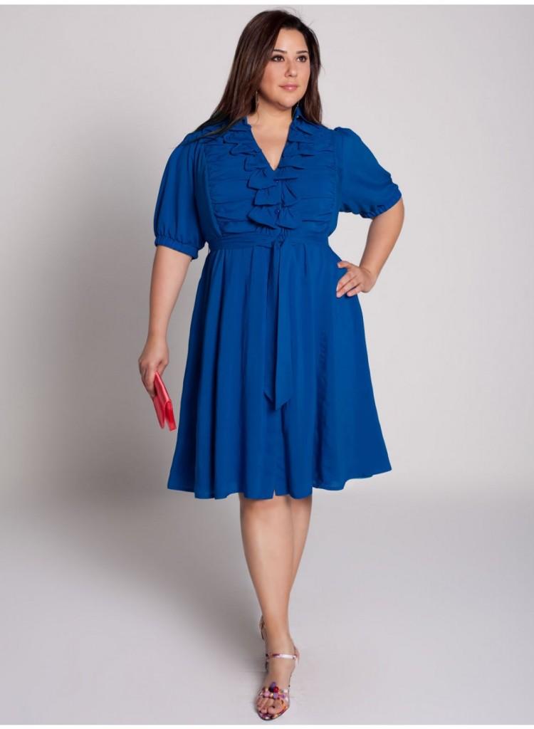 Синие платье для полных