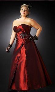 vestidos de fiesta para gorditas rojos (11)
