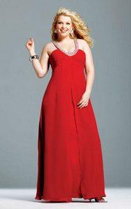 vestidos de fiesta para gorditas rojos (2)