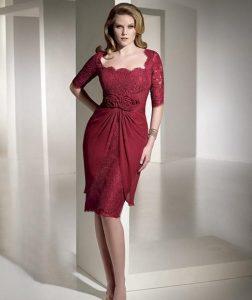 vestidos de fiesta para gorditas rojos (7)