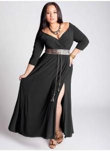 vestidos de fiesta para gorditas con mangas (1)