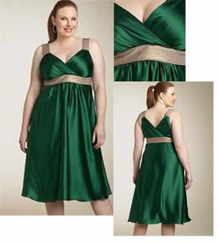 Vestido de noche para gorditas verde