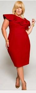 Vestidos rojos para gorditas (9)