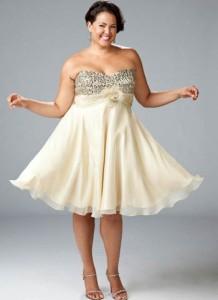 15 imágenes de vestidos de fiesta para gorditas con brillo (9)