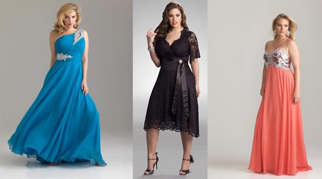 Modelos de vestidos de fiesta para gorditas 2014