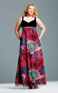 15 opciones de hermosos vestidos de fiesta para gorditas estampados (13)
