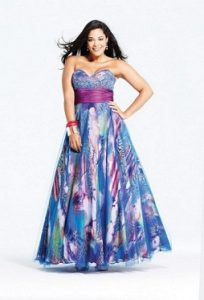 15 opciones de hermosos vestidos de fiesta para gorditas estampados (14)