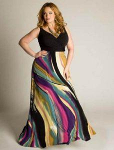 15 opciones de hermosos vestidos de fiesta para gorditas estampados (2)