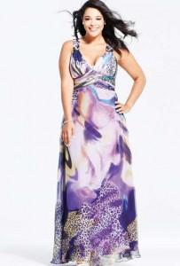 15 opciones de hermosos vestidos de fiesta para gorditas estampados (6)