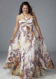 15 opciones de hermosos vestidos de fiesta para gorditas estampados (7)