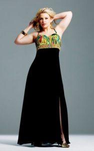 15 opciones de hermosos vestidos de fiesta para gorditas estampados (8)