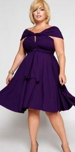 15 opciones de vestidos de fiesta para gorditas cortos para Navidad (11)