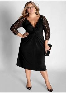 15 opciones de vestidos de fiesta para gorditas cortos para Navidad (14)