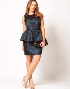 15 opciones de vestidos de fiesta para gorditas cortos para Navidad (2)