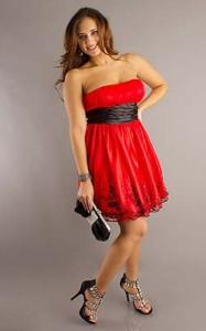 15 opciones de vestidos de fiesta para gorditas cortos para Navidad (6)