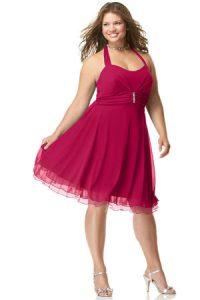 15 opciones de vestidos de fiesta para gorditas cortos para año nuevo (11)