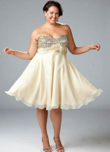 15 opciones de vestidos de fiesta para gorditas cortos para año nuevo (7)