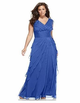 Vestidos de noche para gorditas color azul