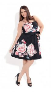 15 opciones de vestidos floreados de fiesta para gorditas (3)