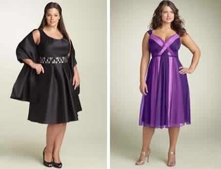Vestidos de fiesta para mujeres bajitas y gorditas