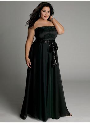 Vestido de gala para mujer gordita