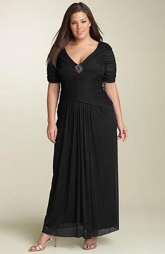 Vestidos de noche negro para gorditas