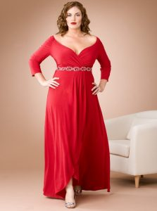11 Bellos vestidos de fiesta para gorditas rojos (10)