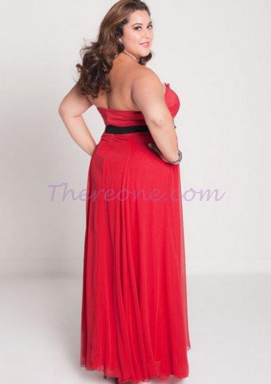 Vestidos de fiesta para gorditas en color rojo