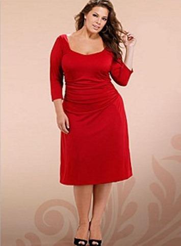 11 Bellos Vestidos De Fiesta Para Gorditas Rojos