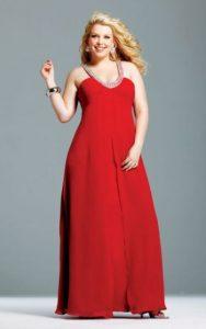 11 Bellos vestidos de fiesta para gorditas rojos (9)