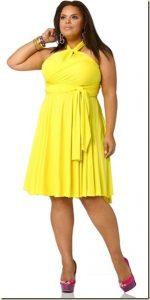 11 Bonitos vestidos de fiesta para gorditas en color amarillo (10)