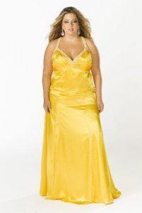 11 Bonitos vestidos de fiesta para gorditas en color amarillo (2)