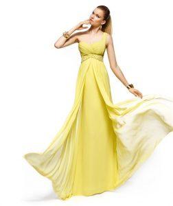 11 Bonitos vestidos de fiesta para gorditas en color amarillo (3)
