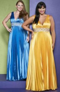 11 Bonitos vestidos de fiesta para gorditas en color amarillo (5)