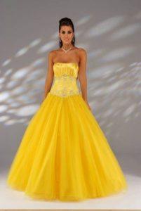 11 Bonitos vestidos de fiesta para gorditas en color amarillo (6)