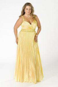 11 Bonitos vestidos de fiesta para gorditas en color amarillo (7)