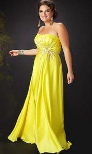 11 Bonitos vestidos de fiesta para gorditas en color amarillo (8)