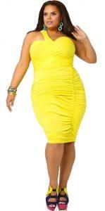 11 Bonitos vestidos de fiesta para gorditas en color amarillo (9)