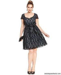 10 nuevos diseños de vestidos de fiesta para gorditas a media pierna (4)