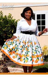 10 Nuevos modelos de vestidos de fiesta para gorditas con flores (1)