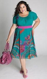 10 Nuevos modelos de vestidos de fiesta para gorditas con flores (3)