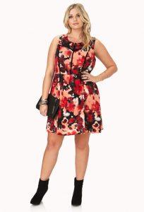10 Nuevos modelos de vestidos de fiesta para gorditas con flores (5)