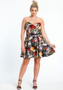 10 Nuevos modelos de vestidos de fiesta para gorditas con flores (8)