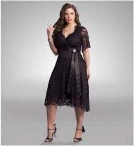 11 Modelos de vestidos de fiesta para mujeres gorditas y bajitas (1)
