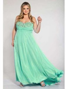 10 modelos de vestidos de fiesta para gorditas de graduación (5)