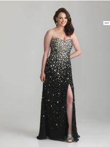 10 modelos de vestidos de fiesta para gorditas de graduación (9)